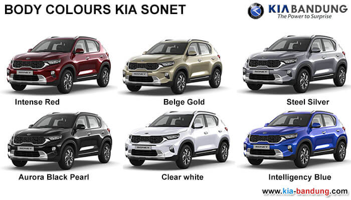 Body Colours KIA Sonet